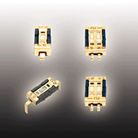 Surface Mount DIP Switch Single Pole Single Throw (SPST) 100 (Non-Switching) mA, 100 (Switching) mA Slide