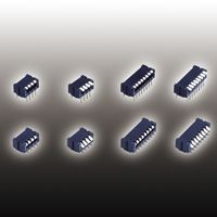 Through Hole DIP Switch Single Pole Single Throw (SPST) 100 (Non-Switching) mA, 100 (Switching) mA Slide product photo