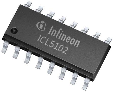 Infineon ICL5102XUMA2 LED Driver IC, 85  305 V ac 400 (Sink)mA 16-Pin