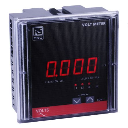 RS PRO 3 Phase Digital Panel Multi-Function Meter, 90mm Cutout Height