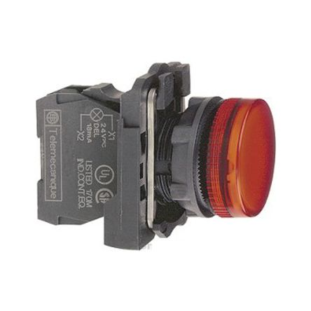 Clipsal Electrical MXB5 Red LED Pilot Light, 22mm Cutout, IP66, IP67, IP69, IP69K, Round, 230 V ac, 14 mA