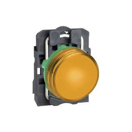 Clipsal Electrical XB5 Orange LED Pilot Light, 22mm Cutout, IP66, IP67, IP69, IP69K, Round, 230 → 240 V ac/dc