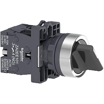 Schneider Electric XA2 3 positions Plastic Screw Key Switch Complete DPNO, 3 A 22mm IK06, IP65 240V 250V Stay Put