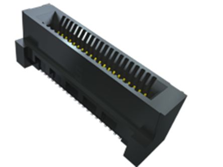 Samtec HSEC8-DV Series, Vertical FemalePCBEdge Connector, SMT Mount, 40 Way, 2 Row, 0.8mm Pitch, 2.8A