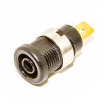 Mueller Tip Test Plug & Jack, 1kV 36A, Black, Gold Plated Contact, Male