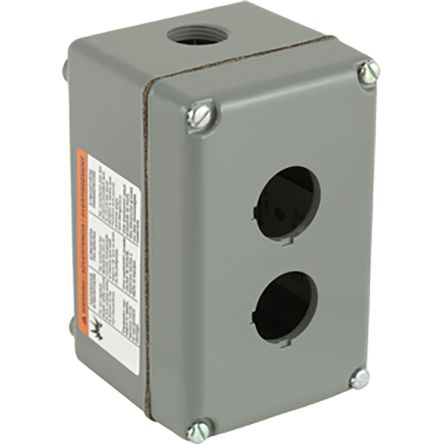 Schneider Electric 9001K Control Station Enclosure, 2 Hole, 30mm Diameter Aluminium