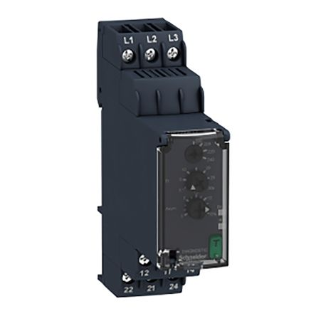 Schneider Electric Phase Monitoring Relay With DPDT Contacts, 3 Phase, 200 → 240 V ac