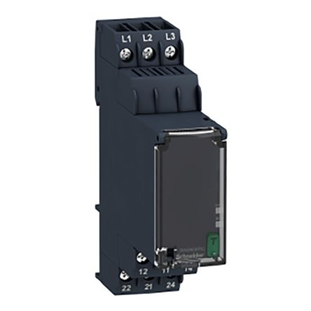Schneider Electric Zelio Control Phase Monitoring Relay With DPDT Contacts, 208 → 480 V ac, 3 Phase