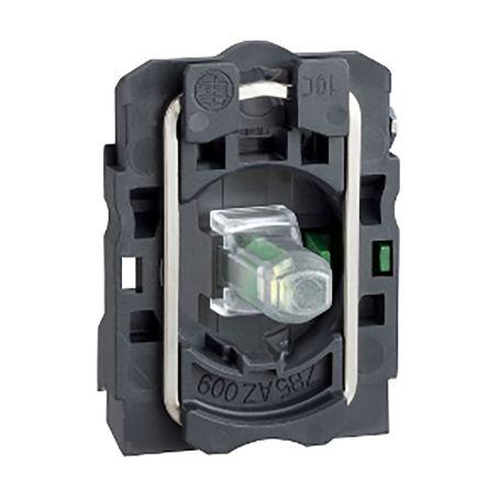 Schneider Electric Harmony XB5 Light Block SPNO LED Orange 120 → 240 V ac, 125 → 600 V dc Screw terminal
