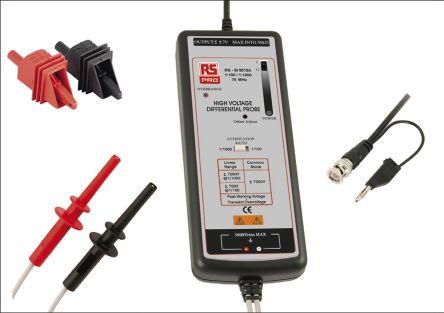 RS PRO Oscilloscope Probe, Probe Type: Differential 70MHz 5kV 1:100, 1:1000