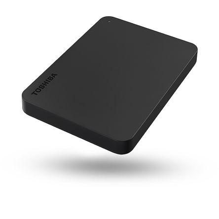 Toshiba Canvio Basics Black 500 GB External Hard Drive, 78mm, HDTB405EK3AA
