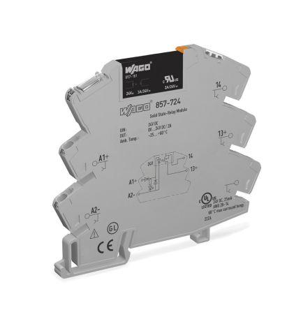 Wago 3 A Solid State Relay, DC, DIN Rail, Transistor/Triac, 24 V dc Maximum Load