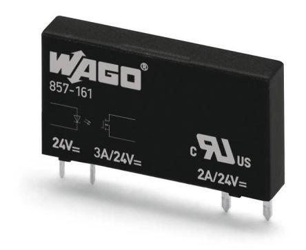 Wago 0.1 A Solid State Relay, DC, Plug In, Transistor/Triac, 48 V dc Maximum Load