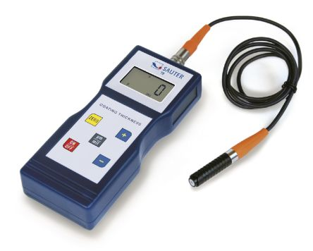 Sauter SAUTER TB Thickness Gauge, 100μm - 1000μm, 1 (Offset-Accur) %, 3 (Standard) % Accuracy, 0.1 μm Resolution, LCD