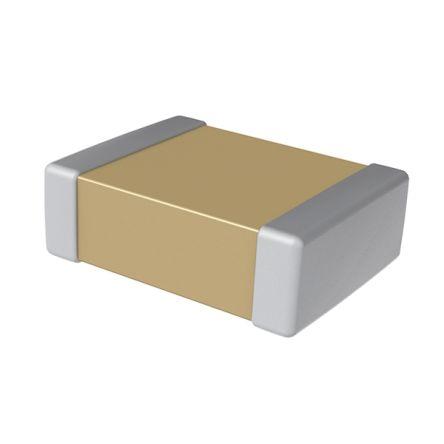 KEMET C0603C106M8PACTU 10μF Multilayer Ceramic Capacitor MLCC 10V dc ±20% Tolerance SMD