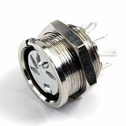651-0510 CIRCULAR DIN SOCKET DELTRON 5 PIN // 240