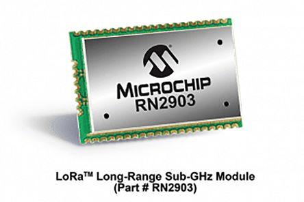 Microchip Technology RN2903A-I/RM105 RF Transceiver RF Receiver Module 902  → 928 MHz, 2 1 → 3 6V