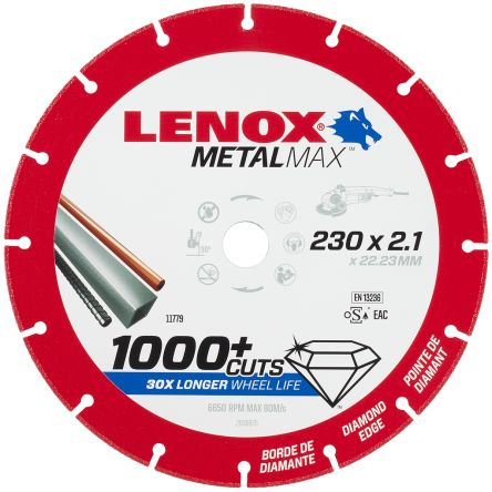 Lenox Diamond Cutting Wheel, 230mm Diameter, 2.1mm Thick
