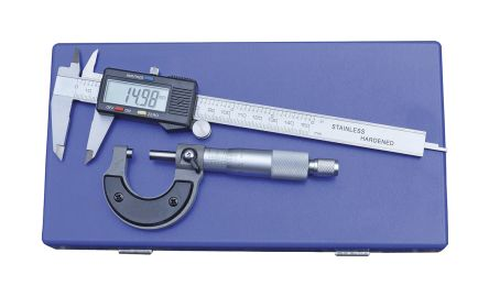 RS PRO Metric & Imperial Electronic Caliper, Mechanical Micrometer Measuring Set