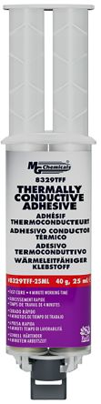 MG Chemical Epoxy Thermal Conductive Adhesive, 15 min @ +65 °C, 4 (Room Temperature) h Cure, 25 ml Syringe