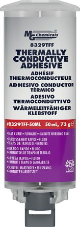 MG Chemical Epoxy Thermal Conductive Adhesive, 15 min @ +65 °C, 4 (Room Temperature) h Cure, 50 ml Cartridge