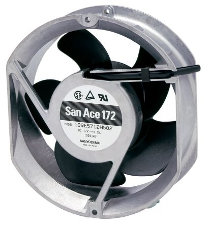 109E Series Axial Fan, 172 x 150 x 51mm, 300cfm, 31.2W, 24 V dc product photo