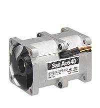 Sanyo Denki 9CR Series Axial Fan, 40 x 40 x 56mm, 31.8cfm, 16.8W, 12 V dc