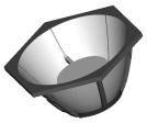 Polymer Optics 451 Отражатель для светодиодов