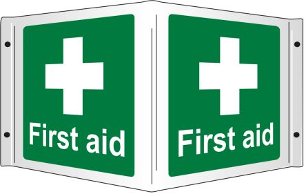 First Aid-Text, English First Aid Sign product photo