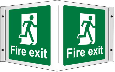 Fire Exist-Text, English Sign product photo