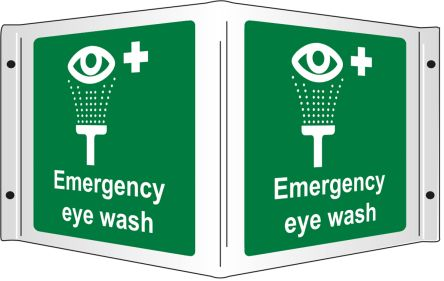 Emergency Eye Wash-Text, English First Aid Sign product photo
