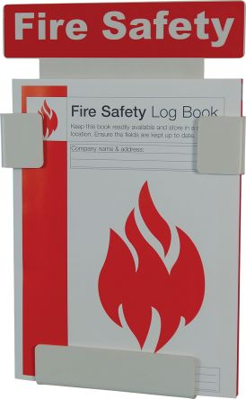 Fire Safety log Book Wall Holder With A4