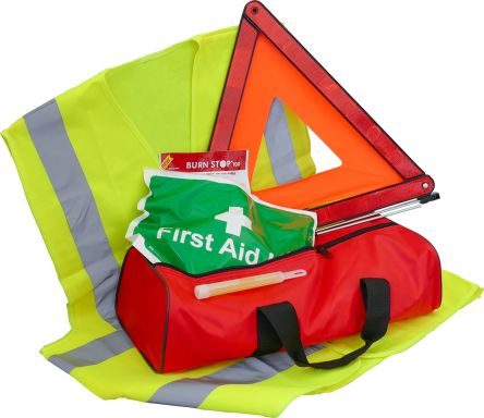 Carrying Case Vehicle Safety Kit for 8 people, 190 mm x 125mm x 460 mm