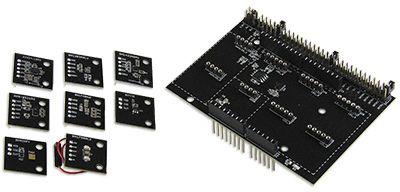 ROHM SensorShield-EVK-003, Evaluation Kit Evaluation Kit for BD1020HFV  Temperature Sensor Module, BD7411G Hall Effect