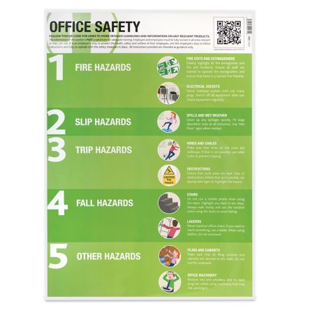 RS PRO Safety Instructions Safety Pocket guide, English, 594 mm, 420mm