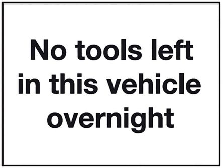 RS PRO Vinyl Location Sign, Vehicle Overnight-Text, English
