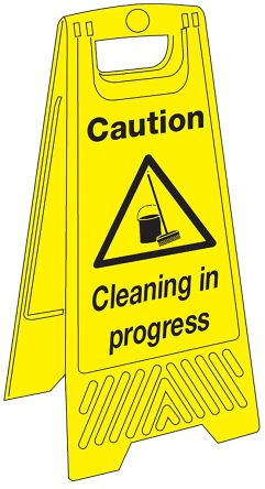 Caution Cleaning in Progress Floor Stand