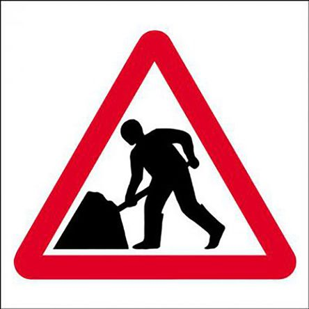 RS PRO ROAD WORK Sign Plastic