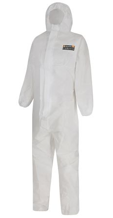 Alpha Solway White Coverall, S