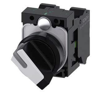 Siemens SIRIUS ACT 2 positions Plastic Cage Clamp Selector Switch SPDT, 10 A 22mm Illuminated IP20, IP66, IP67, IP69