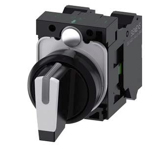 Siemens SIRIUS ACT 3 positions Plastic Cage Clamp Selector Switch SPDT, 10 A 22mm Illuminated IP20, IP66, IP67, IP69