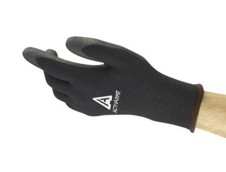 Ansell ActivArmr PVC-Coated Gloves, size 9, Black