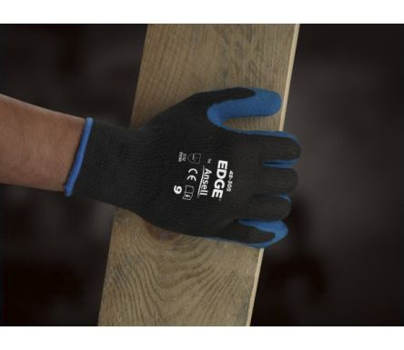 Ansell EDGE Latex-Coated Gloves, size 9