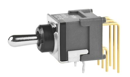 NKK Switches Double Pole Double Throw (DPDT) Toggle Switch, Latching, IP65, Through Hole