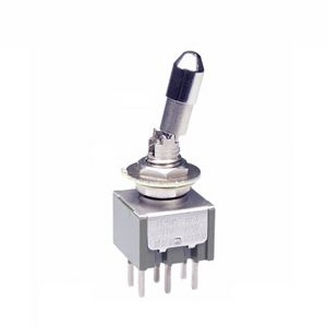 NKK Switches Double Pole Double Throw (DPDT) Toggle Switch, Latching, IP67, Panel Mount
