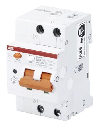 1P + N 6 kA 16 A RCBO, DIN Rail Mount, Trip Sensitivity 30mA System Pro M Compact DS-ARC1