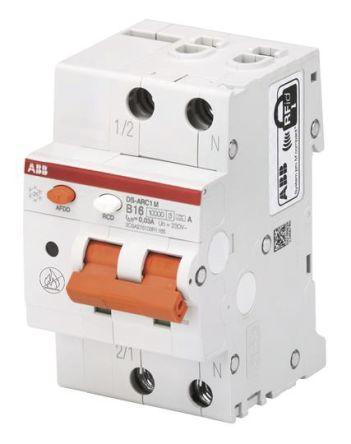 1P + N 10 kA 16 A RCBO, DIN Rail Mount, Trip Sensitivity 30mA System Pro M Compact DS-ARC1