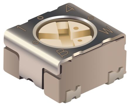 10kΩ, SMD Trimmer Potentiometer 0.25W Top Adjust Bourns, PVG3