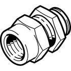 Pneumatic Bulkhead Threaded-to-Tube Adapter, Push In 12 mm, G 1/2 Female BSPPx12mm product photo