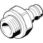 Festo Pneumatic Quick Connect Coupling Brass 1/4in Threaded